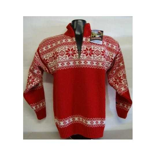 Rød uld norsk sweater