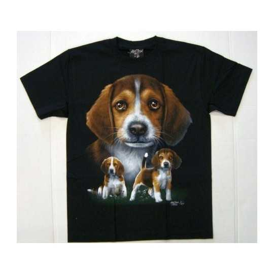 T-shirt med beagle