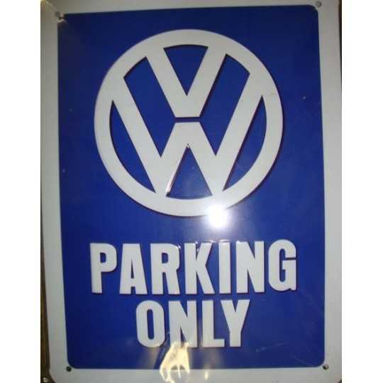 Metal skilt - VW Parking Only