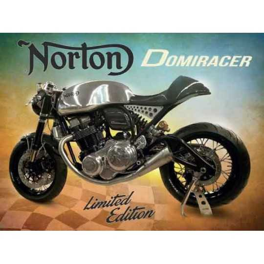 Norton Domiracer metal skilt