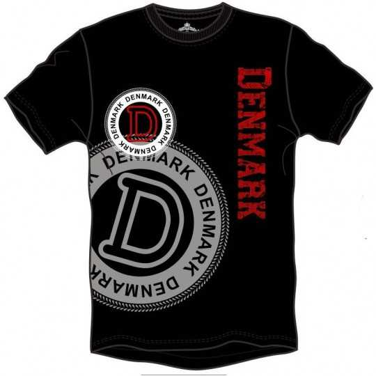 T-shirt Denmark sort