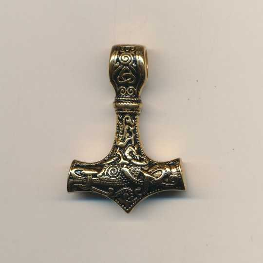 Thors Hammer forgyldt - ny design